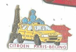 Citroen Course Automobile Paris Pekin Beijing Tour Eiffel - Citroën
