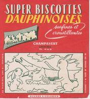 Super Biscottes Dauphinoises - Champavert (Grenoble)  - Buvard A Colorier - Biscottes