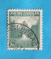 KR-3  1937  334-A  JUGOSLAVIJA JUGOSLAWIEN  KLEINE ANTANTA KIRCHE OPLENAC   USED - Oblitérés