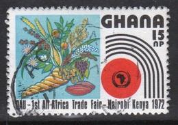 Ghana 1972  Single 15np  All African Trade Fair Fine Used Commemorative Stamp. - Ghana (1957-...)