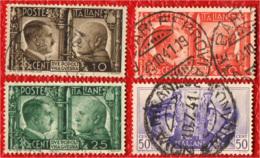ITALIA REGNO - 1941 - FRATELLANZA D'ARMI ITALO-TEDESCA - USATI - 1900-44 Vittorio Emanuele III