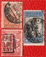 ITALIA REGNO - 1928 - 4° CENTENARIO DELLA NASCITA DI EMANUELE FILIBERTO E 10° ANNIVERSARIO DELLA VITTORIA - USATI - 1900-44 Vittorio Emanuele III