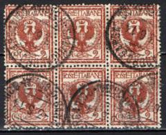 ITALIA REGNO - 1901 - AQUILA SABAUDA - SESTINA - SERIE FLOREALE - USATI - 1900-44 Vittorio Emanuele III