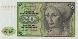 BRD Ro 271c 20 DM Serie ZG...A 1970 Ersatznote EF - [ 7] 1949-… : RFD - Rep. Fed. Duitsland
