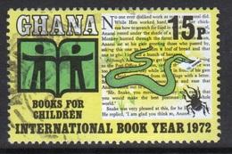 Ghana 1972  Single 15np International Book Year  Fine Used Commemorative Stamp. - Ghana (1957-...)