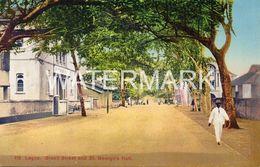 LAGOS BROAD STREET AND ST GEORGE HALL OLD COLOUR POSTCARD NIGERIA AFRICA - Nigeria
