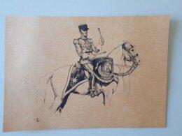 Affiche : Dessin D'un Timbalier Du Premier Régiment Etranger De Cavalerie  & - Documents