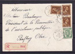 N° 425 Et 427 / Lettre En Recommande De WANDRE Vers Olne Lsc - 1934-1935 Léopold III