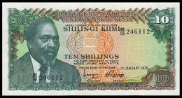 # # # Banknote Kenia (Kenya) 10 Schillingi 1975 UNC- # # # - Kenya