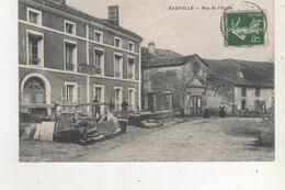 CPA  SAUVILLE RUE DE L EGLISE - France