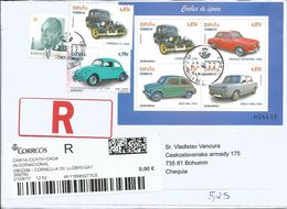 R Envelope Spain Cars Sent To Czech Republic 2017 - Automobili