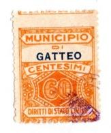 COMUNE DI GATTEO  - MARCA COMUNALE  CENTESIMI 60 - Revenue Stamps