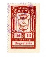 COMUNE DI GATTEO  - MARCA COMUNALE  LIRE 10 - Revenue Stamps