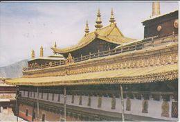 TIBET,  LHASA - Zuglakang Temple, Golden Roof Of The Southern Hall,   Nice Stamp - Tíbet