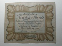 1918 - Allemagne - Germany - 50 MARK - A 202 - Berlin, 30 November 1918 - [ 3] 1918-1933 : Repubblica  Di Weimar