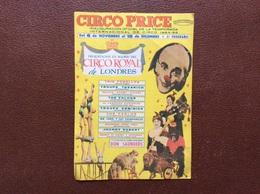 PROGRAMME CIRQUE   CIRCO PRICE  Circo Royal De Londres  PROGRAMME 1964-1965 - Programmi