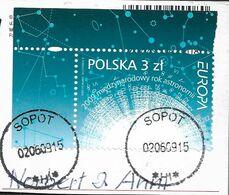 2009 Polen   Mi.4425  Used   Briefstück  Europa: Astronomie - Europa-CEPT