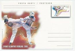 Postal Stationery Turkey 2000 Olympic Games Sydney 2000 - Taekwondo - Non Classés