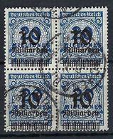 ALLEMAGNE Inflation 1923:  Bloc De 4 Du Y&T 314 Obl. CAD - Used Stamps