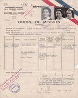 Ordre De Mission De 1939/ Ministère De La Guerre - Documents