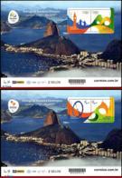 Ref. BR-3294D-E BRAZIL 2015 OLYMPIC, *RARE* DELIVERY OF FLAG,, OLYMPIC GAMES RIO 2016,DATED 2012, MNH 4V Sc# 3294D+94E - Summer 2016: Rio De Janeiro