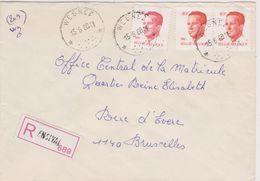 Recommandé Ensival - Relais De Wegnez 1988  Type Velghe - Lettres & Documents