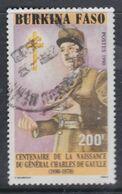Burkina Faso N° 829 O Centenaire De La Naissance Du Général De Gaulle,  Oblitéré, TB - Burkina Faso (1984-...)
