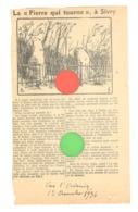 """SIVRY - """" Pierre Qui Tourne """"  - Article Du Journal """" Vers L'Avenir """" Du 12/12 1936 - Vieux Papiers"""