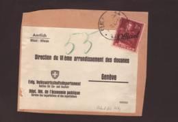 Timbre Surchargé Officiel 2f Obl Bern 07.02.1946 Sur Fragment De Paquet -> Genève - Officials