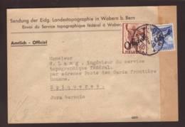 Timbres Surchargés Officiel   Obl Bern 22.07.1942 Sur Fragment De Paquet -> Gardes Frontières Epiquerez - Officials