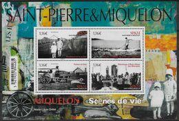 2020 Saint Pierre Et Miquelon N° BF. Nf** MNH . Scènes De Vie - Blokken & Velletjes