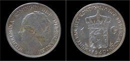 Netherlands Wilhelmina I 1 Gulden 1940 - [ 3] 1815-… : Royaume Des Pays-Bas