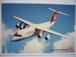 Avion / Airplane / TURKISH AIRLINES / RJ 70/100 / Airline Issue / Size: 10,5X15,5cm - 1946-....: Ere Moderne
