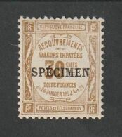 TIMBRES - 1923 -  N ° 46 - CI 2 - Timbre De Recouvrements -  Surcharge C -  Neuf Sans Charnière - - Unused Stamps