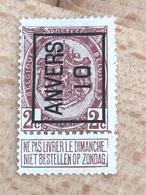 14A Anvers 10 Zone Mince Partie Sup Voir Scan - Préoblitérés