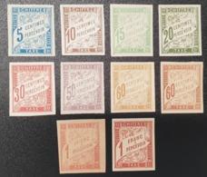 """Petit Lot De Colonies Française """"TAXE"""" N° 18 à 24/24a/25 Neuf * Gomme D'Origine  TB - Postage Due"""