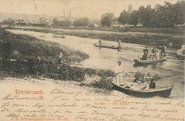 Echternach Le Bac . Die Fahre . Ferry Boat Edit Bellwald  . Timbrée Petange 1902 - Echternach