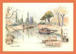 A615 / 381 CANAL DU MIDI Aquarelle De Robert LEPINE - Non Classés