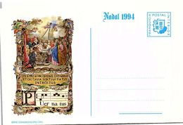 PRINCIPAT D' ANDORRA - CARTA NADAL 1994 / 4 - Andorre Espagnol