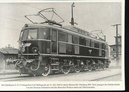 N° 154 --- Lokportrat Beaureihe E 19 --  Bild 1 - Trenes