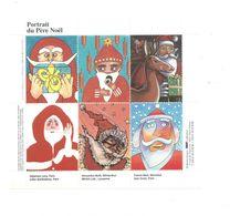 Vignettes Bloc Portrait Du Père Noël TB 2 Scans - Blocs & Carnets