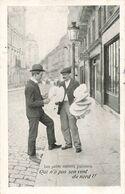 75 Paris Les Petits Métiers Parisiens Qui N'a Pas Son Vent Du Nord Camelot Cpa Carte Voyagée Cachet 1906 - Straßenhandel Und Kleingewerbe