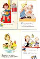 CPA.   Lot De 4 Cartes .      Illustrateur  Attwell M.L - Attwell, M. L.