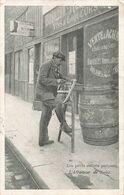 75 Paris Les Petits Métiers Parisiens Affuteur De Scies Cpa Carte Voyagée Cachet 1907 - Artisanry In Paris