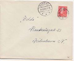Denmark Dänemark. LENDUM STAR Cancellation 14.8.44 Letter - Briefe U. Dokumente