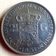 NEDERLAND  VERY NICE 2 1/2 GULDEN 1931 KM 165 Alm/ Unc - 2 1/2 Gulden