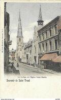 580)  Sint-Truiden - Le College Et  L'eglise Saint-Martin - Gekleurd - Sint-Truiden