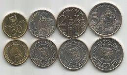 Yugoslavia 2000. Complete Coin Set : 50 Para ,1 Dinar ,2 Dinara,5 Dinara UNC KM#179/182. - Yugoslavia