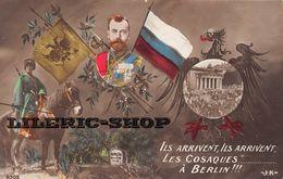 Cpa Patriotique Ww1 - Tzar Nicolas II - Ils Arrivent , Ils Arrivent Les Cosaques à Berlin - Série J.K 9302 ♥ - Patriotiques