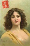 CPA.   Illustrateur ? Portrait De Jeune Femme - Other Illustrators